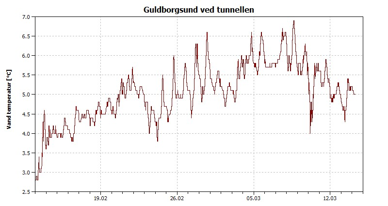 Vandtemperatur Guldborgsund